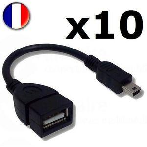 CÂBLE INFORMATIQUE Lot Revendeur - 10 Câbles Adaptateur USB Femelle -