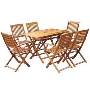 Table de jardin pliante rectangulaire bois