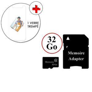 CARTE MÉMOIRE VERRE TREMPE + CARTE 32 Go Pour SONY XPERIA M2 (1