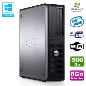 UNITÉ CENTRALE  PC DELL Optiplex 780 DT Intel E5200 2,5Ghz 8Go Dis