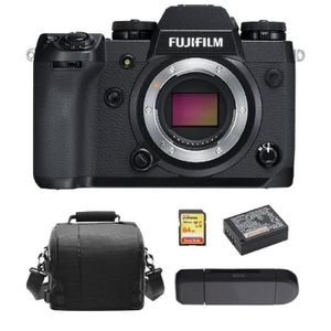 APPAREIL PHOTO RÉFLEX FUJI X-H1 BODY + 64GB SD card + camera Bag + NP-W1