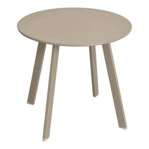 TABLE BASSE Table basse Saona D 50 cm taupe Hespéride