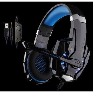 CASQUE AVEC MICROPHONE bleu casque gamer ps4. casque gamer 7.1 pour jeux