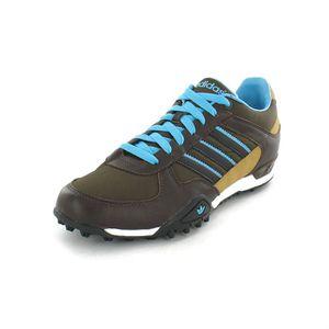 Adidas X Trace Brun foncé, brun, turquoise, noir et blanc
