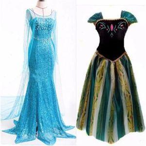 DÉGUISEMENT - PANOPLIE Femme Adultes Princesse Frozen Reine Elsa & Anna D