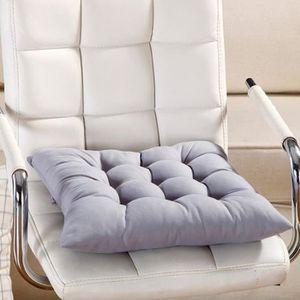 COUSSIN DE CHAISE  Gris-Galette de chaise, 9 couleurs lavable Coussin