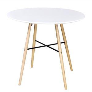 TABLE À MANGER SEULE Table de salle à Manger ronde en Haut MDF + pieds