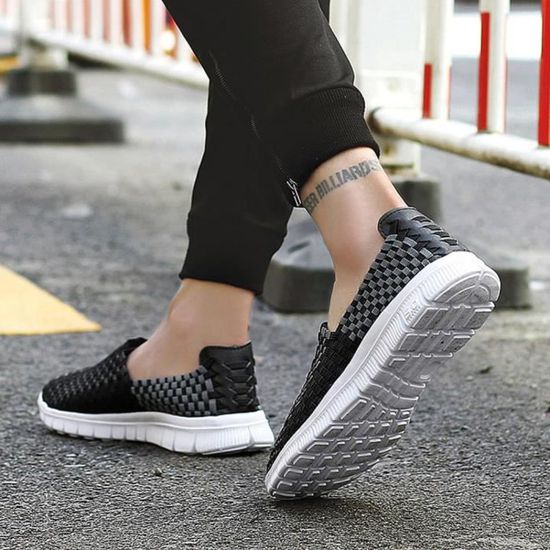 Woven Shoes Femmes Flats Shallow Mouth Lazy Loafers Slip Resistant Flat Shoes  Noir_Cu*7501 Noir Noir - Achat / Vente slip-on