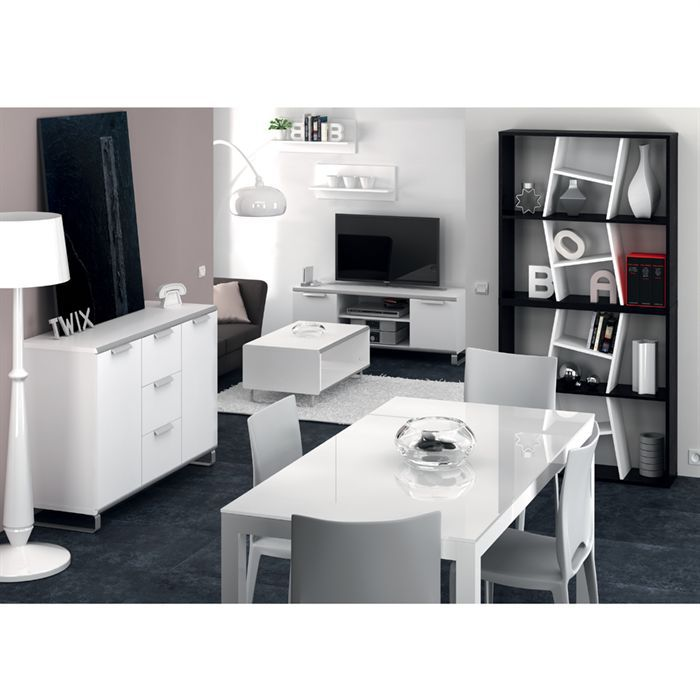 TABLE A MANGER COMPLET ASTORIA Ensemble table et 4 chaises blanches