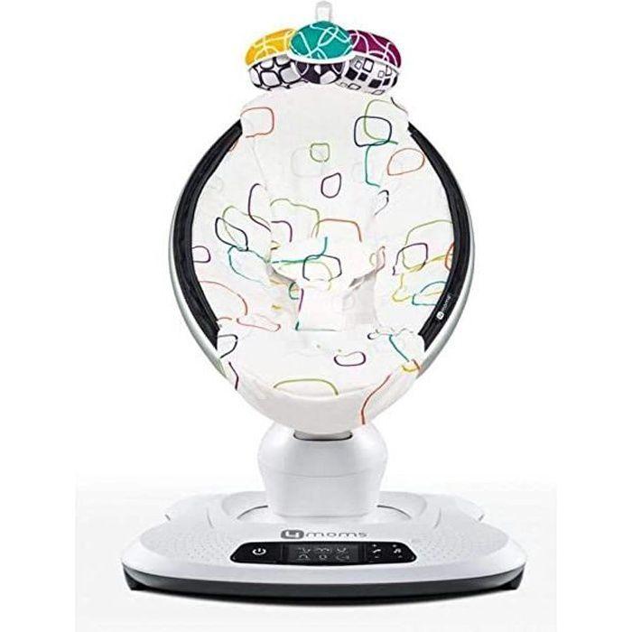 mamaroo 4 multicolor pluche - balancelle bébé électrique qui bouge comme vous - 5 mouvements et 4 sons de la nature - bluetooth et m