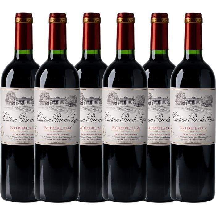 Château Roc de Ségur 2016 - vin rouge - Bordeaux AOC rouge - lot de 6 bouteilles.