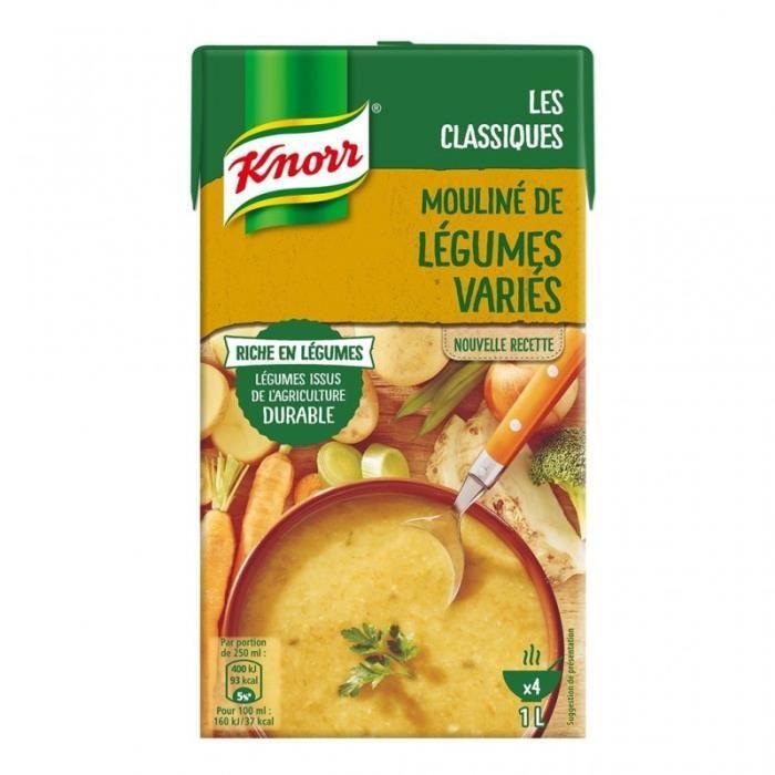 Knorr Les Classiques Mouliné de Légumes Variés 1L (lot de 4)