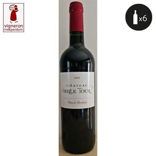 6 bouteilles - Vin rouge - Tranquille - Château VIEILLE TOUR Cuvée TRADITION Côtes de Bordeaux Rouge 2017 6x75cl