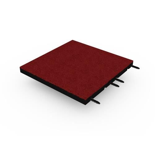 Dalle amortissante 45mm - 50x50cm - avec connecteurs - Rouge