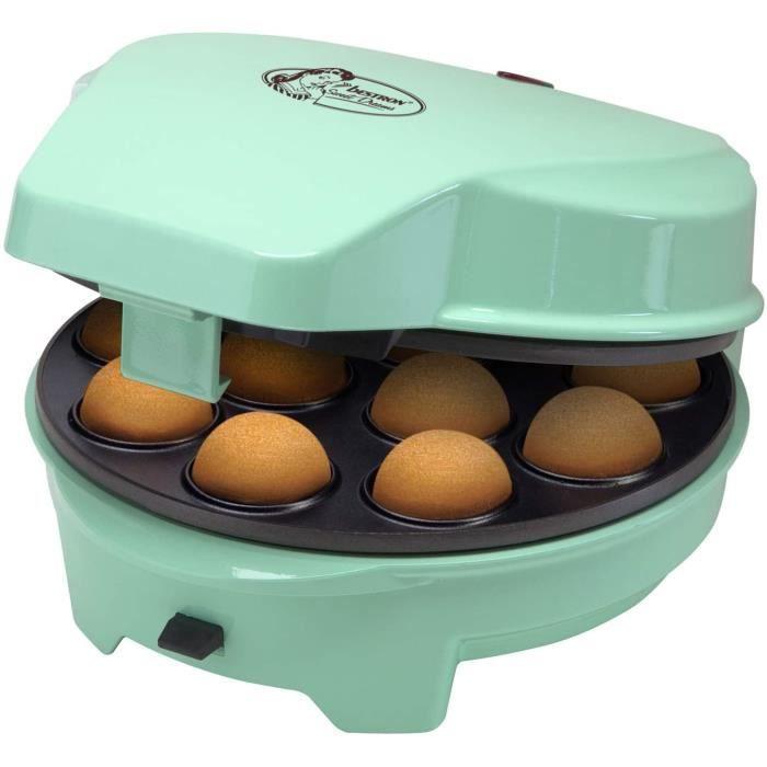 Bestron Appareil à gâteaux rétro 3 en 1 -Cakemaker-, Pour faire des beignets, des muffins et des cake pop, Sweet Dreams, Revêtement