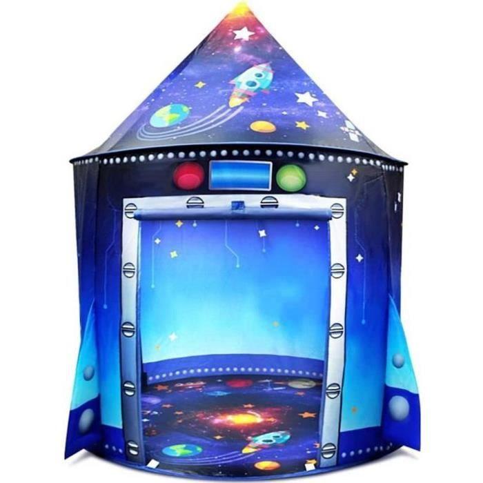 Tente Enfants Bébé,Princesse Chateau,Cadeau Filles Garçon,Tente de Jeu enfant maison château jeux Activité Hauteur 135 X105cm BLEU