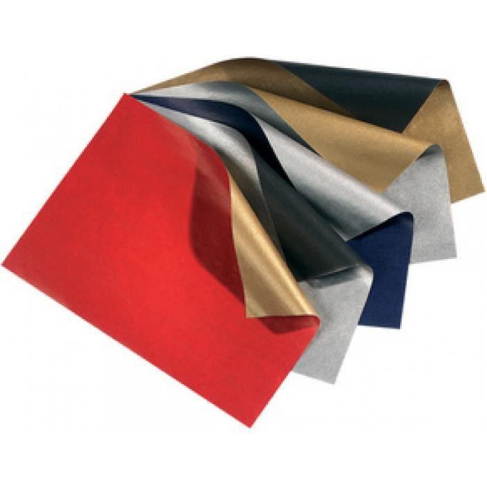 folia Papier cadeau de Noel -Bicolor-, rouge pur/or 0,000000 Noir