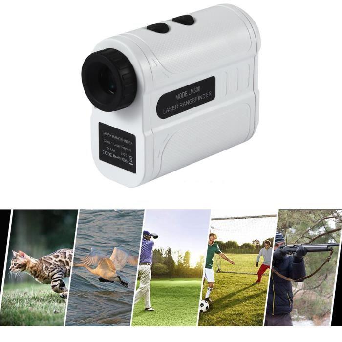 Télémètre de chasse télémétrique à distance télémètre Golf numérique 600 m Télémètre de golf monoculaire de golf