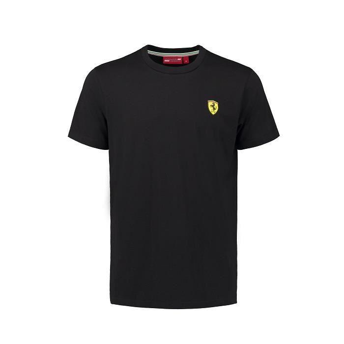 T-shirt FERRARI Classic col rond noir pour homme
