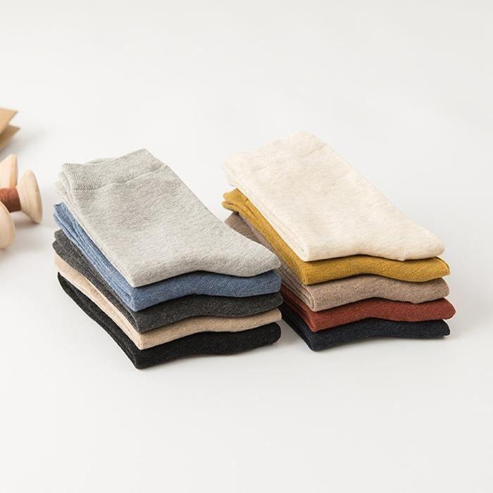 Middle Tube Chaussettes pour hommes Chaussettes décontractées en coton Chaussettes épaisses Chaussettes de couchage, jaune gingembre