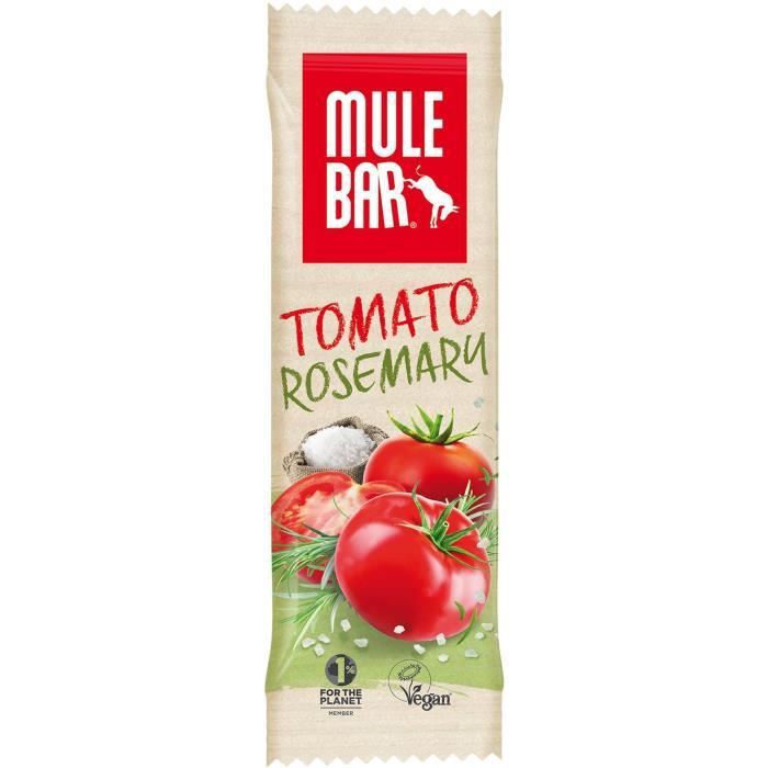 Barre Mulebar salée Vegan 40g : Tomate - Romarin