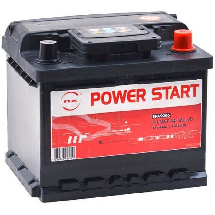 Batterie voiture P-Start 44-360L/0 12V 44Ah +D - Batterie(s) - B18 C15