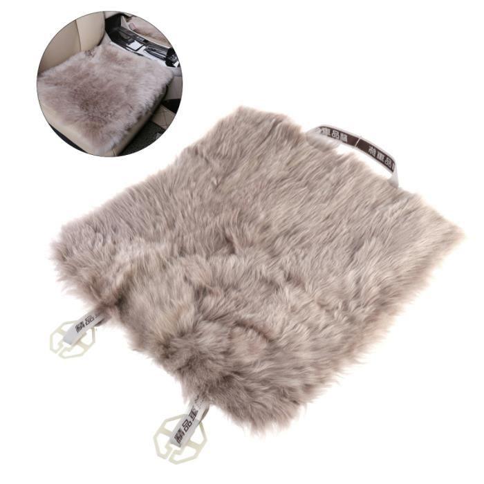 Housse de siège de voiture en peau de mouton en laine coussin de de en de fourrure de chaise (camée AIDE A LA CONDUITE HANDICAPEE