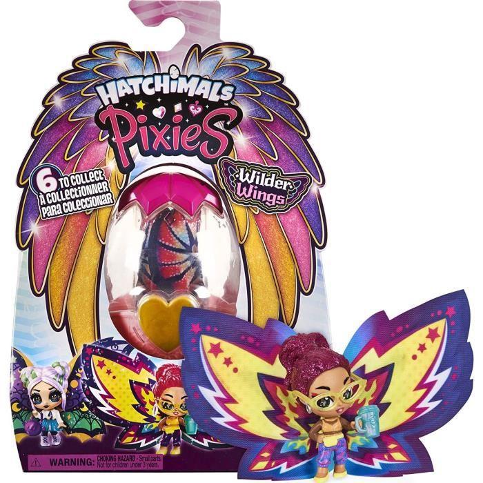 HATCHIMALS - PIXIES Wilder Wings SAISON 9 - Fée Hatchimals Avec Figurines à Collectionner Et Ailes Magiques - Modèles aléatoires