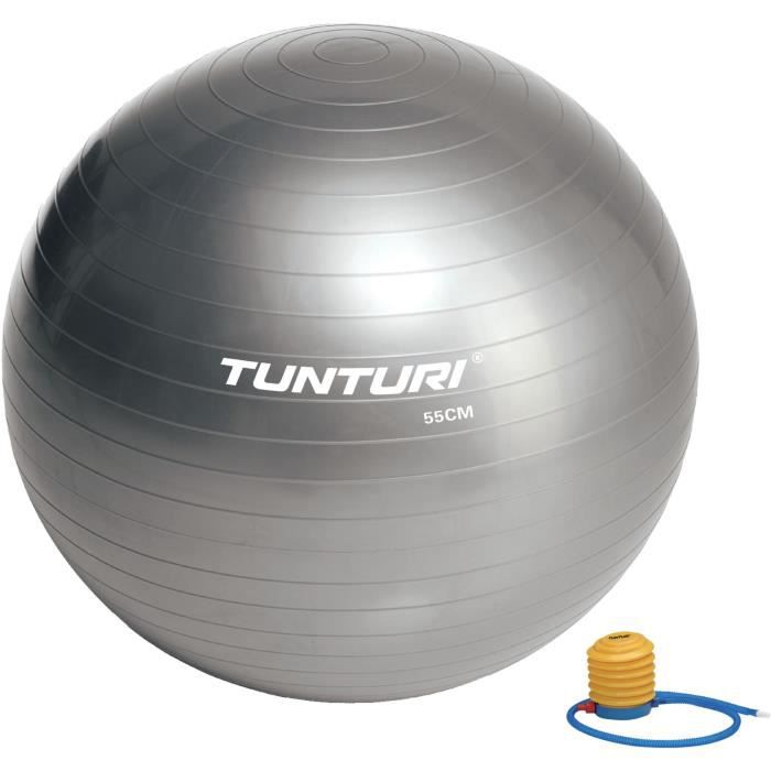 TUNTURI Gym ball ballon de gym 55cm argent