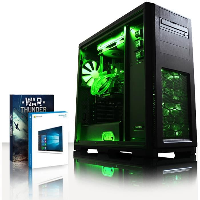 Vibox Accelerator 22 Pc Gamer Ordinateur avec War Thunder Jeu Bundle, Windows 10 Os (4,7Ghz Intel i7 6 Core Coffee Lake Processeur,
