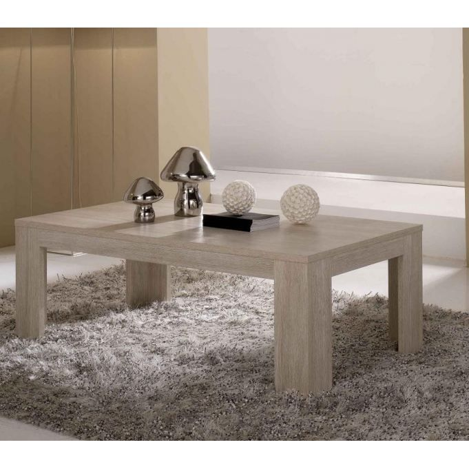 Table basse bois blanc c rus table de lit - Table basse bois blanc ceruse ...