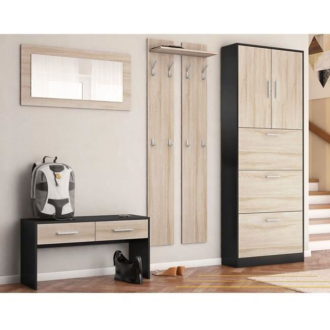ensemble de meubles d entr e noir bois brut achat vente meuble d 39 entr e ensemble de meubles. Black Bedroom Furniture Sets. Home Design Ideas