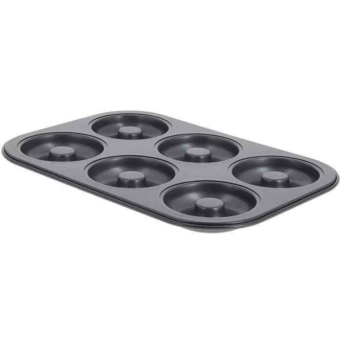 1962.01 moulflex noir plaque 6  muffins DE BUYER