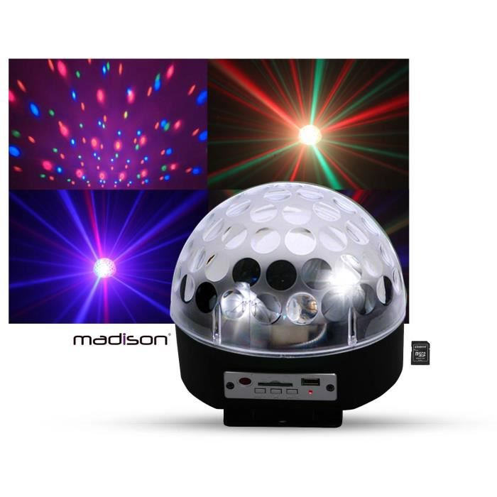 Boule Lumineuse Astro4 Led Rvb Hp Int Gr S Sd Usb Lampe