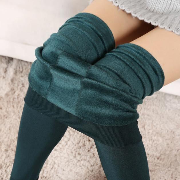 Femme Filles Leggings épais hiver chaud en polaire douce taille unique 8-18 thermique