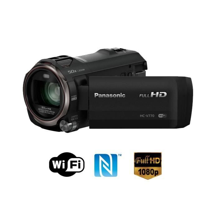 panasonic cam scope panasonic hc v770ef wifi et nfc. Black Bedroom Furniture Sets. Home Design Ideas