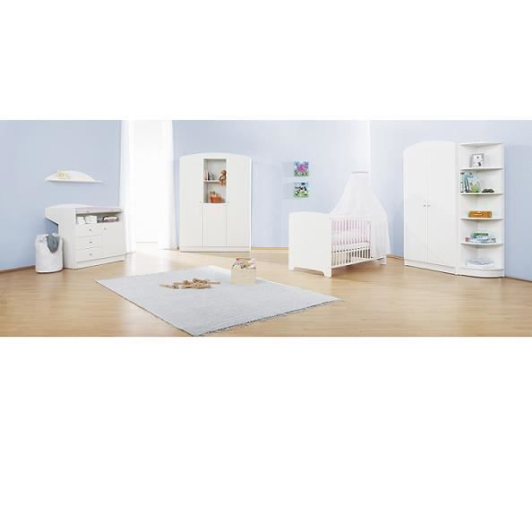 chambre b b blanche jil grande armoire achat vente chambre compl te b b 4035769025069. Black Bedroom Furniture Sets. Home Design Ideas