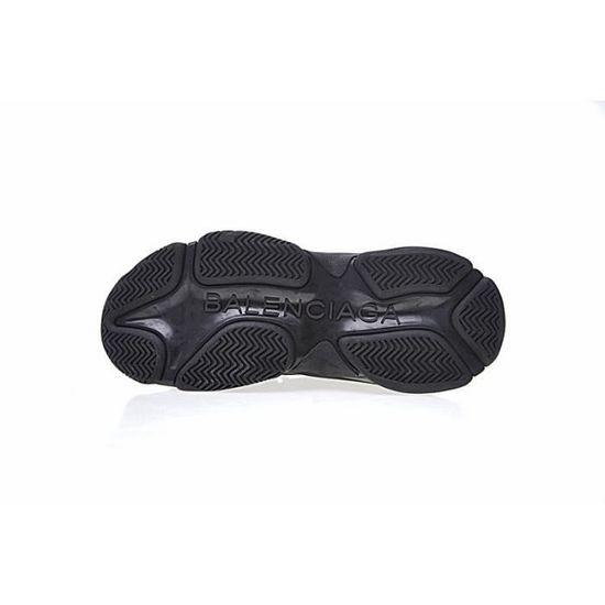 Baskets Balenciaga Triple S Sneaker FW17 Chaussures Version simple Noir Noir