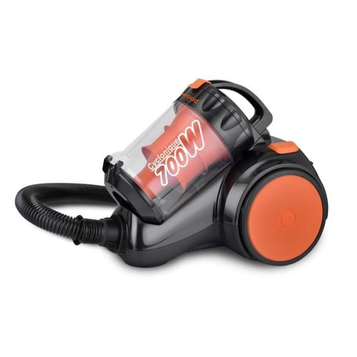 TECHWOOD TAS7006A Aspirateur traîneau sans sac - 700W - 76 dB - A - Orange
