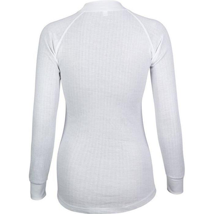 AVENTO Lot de 2 Sous-vêtements Thermiques Manches Longues Femme - Blanc