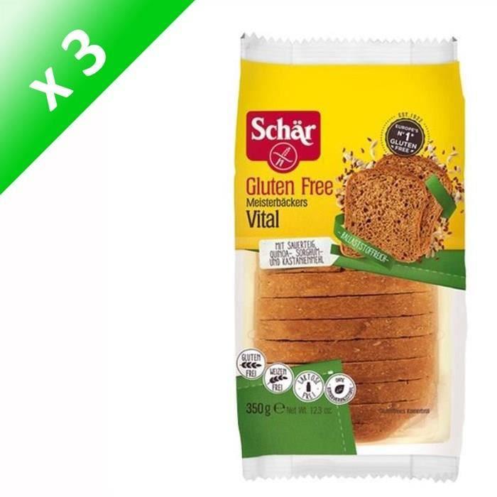 SCHAR Pain Vital de Maître Boulanger Sans Gluten - 350 g x3