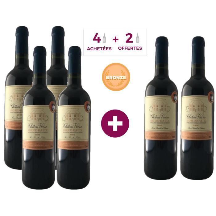 4 ACHETEES = 2 OFFERTES - Château Vieira 2006 Bordeaux - Vin rouge de Bordeaux