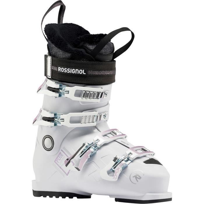 ROSSIGNOL Chaussures de ski alpin Pure Comfort 60 - Femme - Blanc et gris