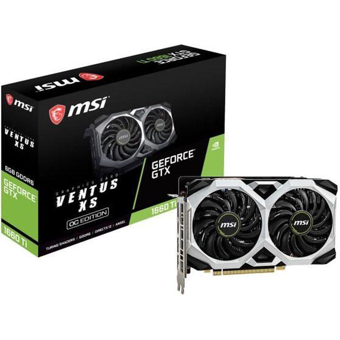 CARTE GRAPHIQUE INTERNE MSI Carte graphique GeForce GTX 1660 Ti  6 Go Vent