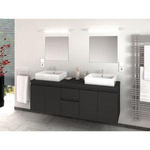 SALLE DE BAIN COMPLETE CINA Ensemble salle de bain double vasque L 150 cm