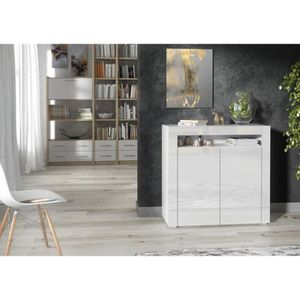 BUFFET - BAHUT  BUFFET BALTIC BLANC LAQUE 2 PORTES