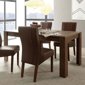 TABLE À MANGER SEULE Table à manger contemporaine couleur noyer ERINE 2