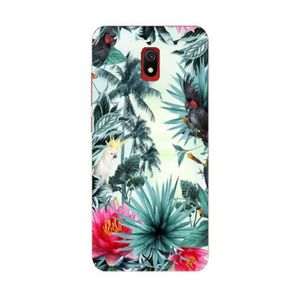 COQUE - BUMPER Coque Redmi 8A perroquet palmier exotique tropical