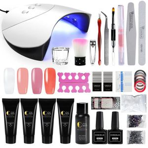 Ongle Building Led Lamp Base Gel Top À Nail Manicure Quick Poly Outil Coat Kit Extension Off Soak Cleanser Plus Set OPZXiuk