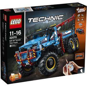 ASSEMBLAGE CONSTRUCTION LEGO® Technic 42070 La Dépanneuse Tout-Terrain 6x6